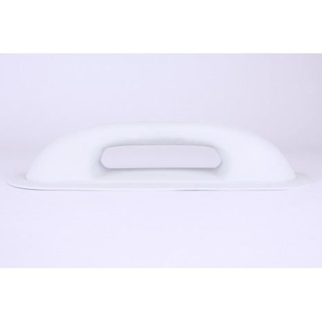 Small Rubber Oval Handle Light Grey HEN002084