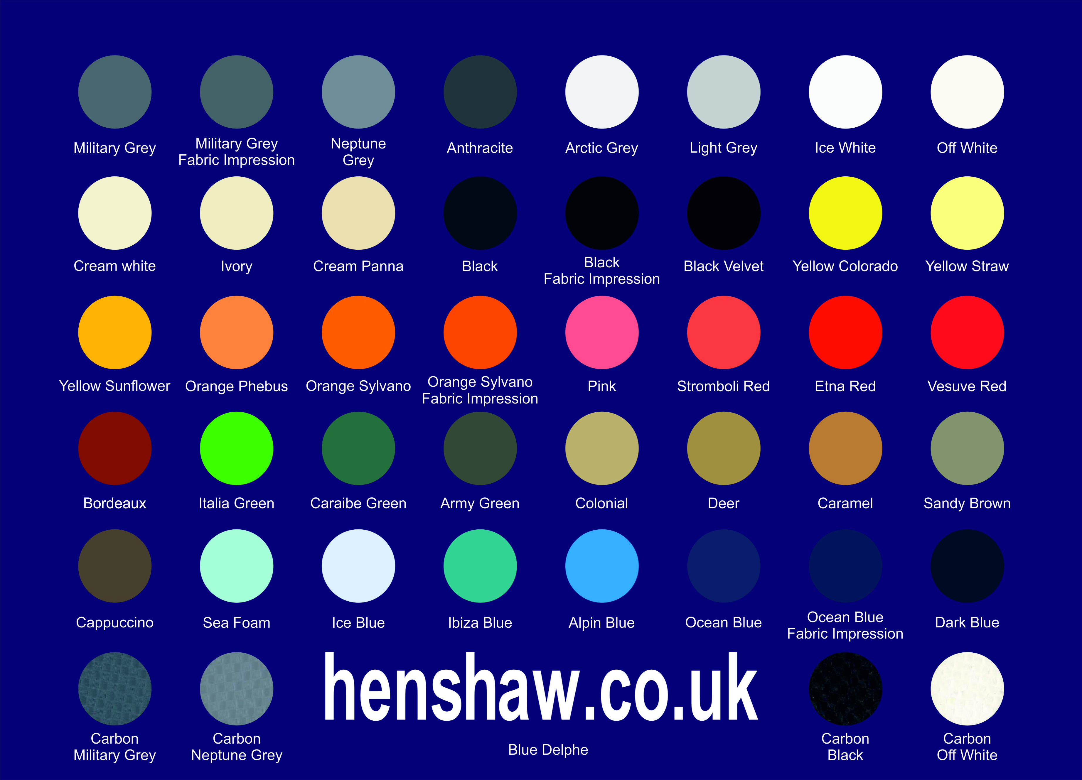 Hypalon Coated Fabric - Henshaw Inflatables Ltd