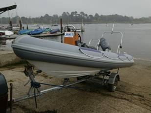 Completed boat ready for launching